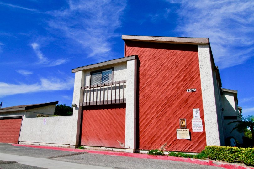 Side view of apartment complex in Presden Villas Santa Ana CA, with house number 4311.