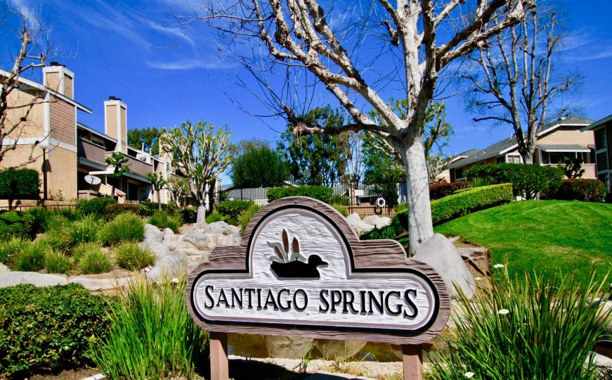 Santiago Springs Location have Beautiful Green Park at Santa Ana city in Califorina