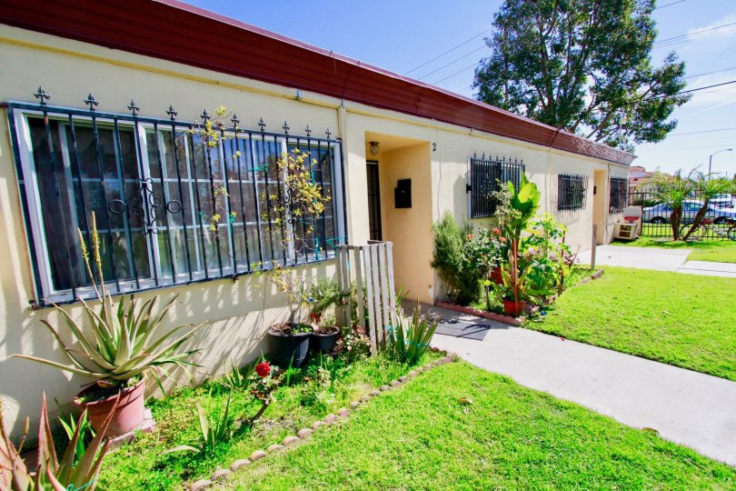 Village Gardens House have Beautiful Front View with Green Park at Santa Ana city in Califorina