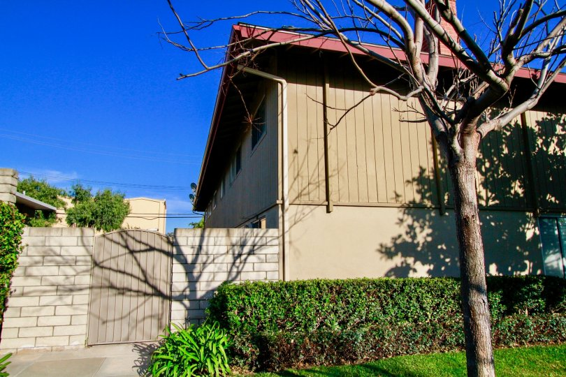 Westwood Condos Santa Ana California like forest region wooden made houses from sideview with trees