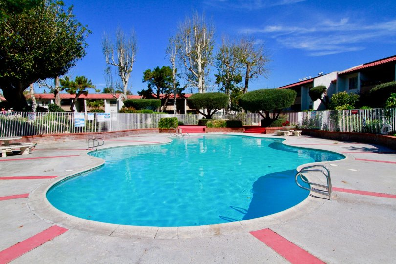 Woodside Village House Building with Beauty Pool Location at Santa Ana city in Califorina