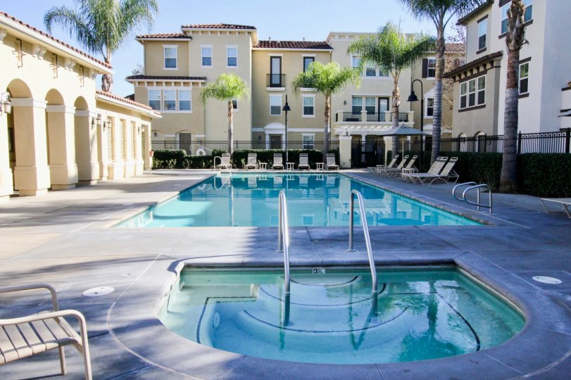 the palazzo at rennaissance plaza is a fabulous swimming pool of the stanton city in ca
