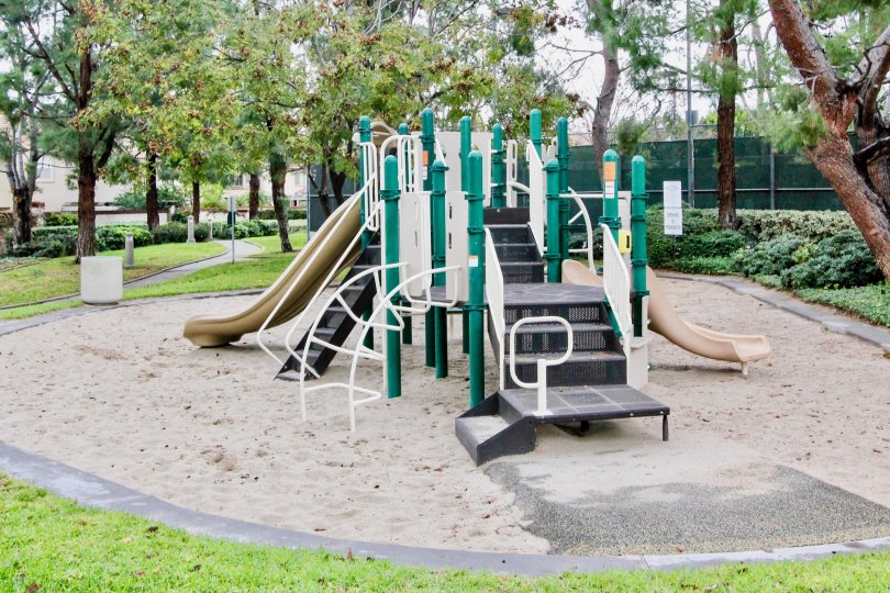 The playground located in Orchards Community in Tustin, California. Slides and climbing apparatus available.