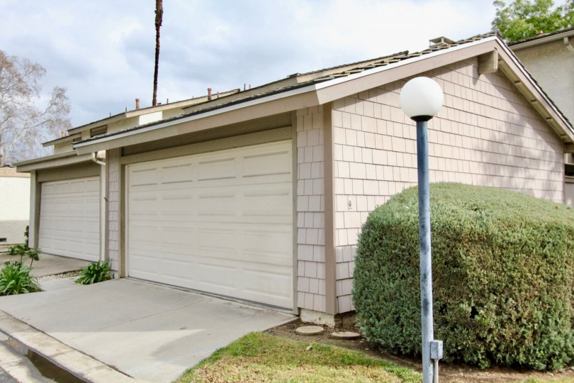 Garage area in the community of San Juan Meadows in Tustin, California