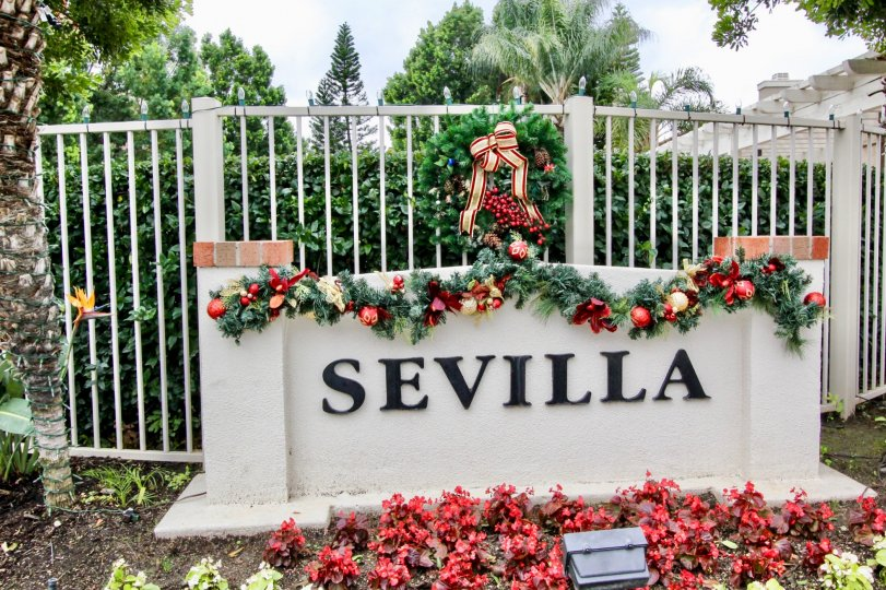 The Enterence to the community of Sevilla in Tustin, California