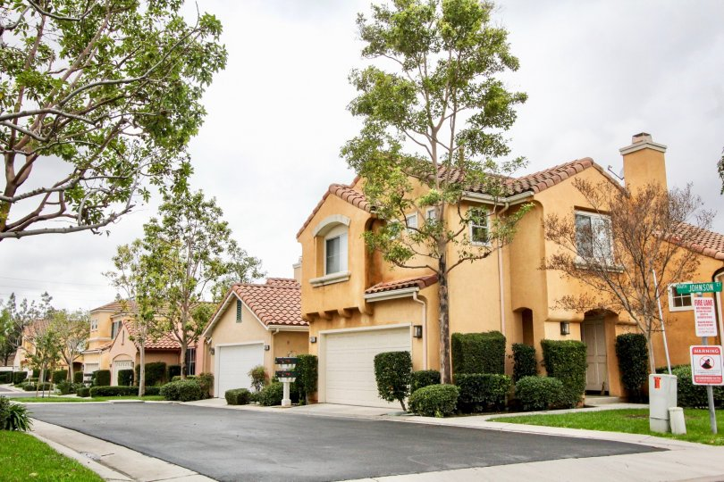 Plenty of curb appeal in the Travilla community in Tustin, California.