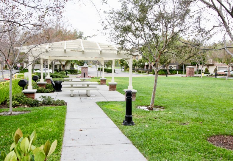 A playground in a park in the Tustin Field community of Tustin, California