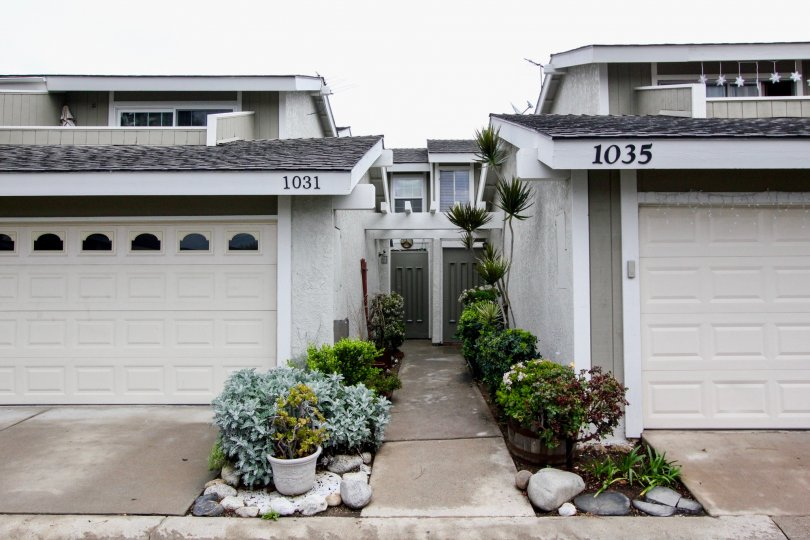 Tustin Pines offers two story floor plans built with low maintain landscaping and attached garages.