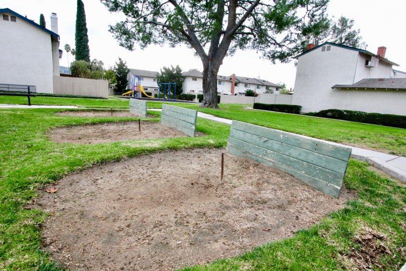 Near the Villa's in Fairgreen Homes has children park like children slider and swing is present