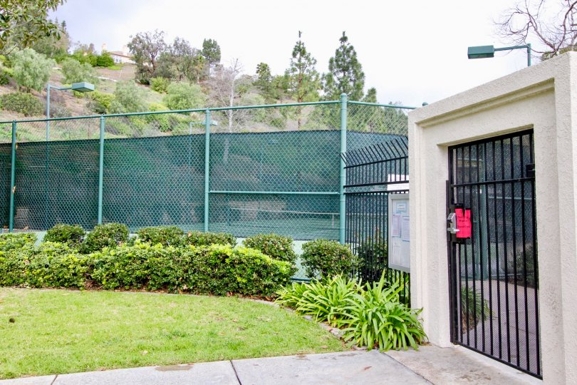 This is a picture of a community Tennis Court in Yorba Linda, CA