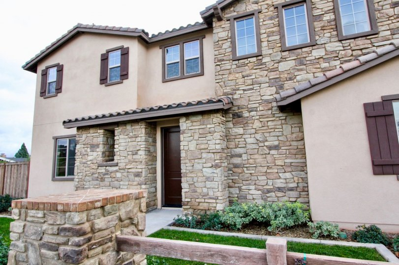 The stone design of Rose Court in Yorba Linda is exquisite