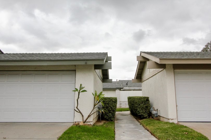 An overcast day in the Woodgate community of Yorba Linda, California
