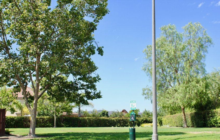 A sunny day in park at Villas located in Old School House Murrieta
