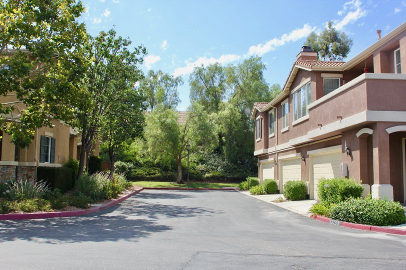Homes on a sunny day at the Villas at Old School House neighborhood in Murrieta, CA