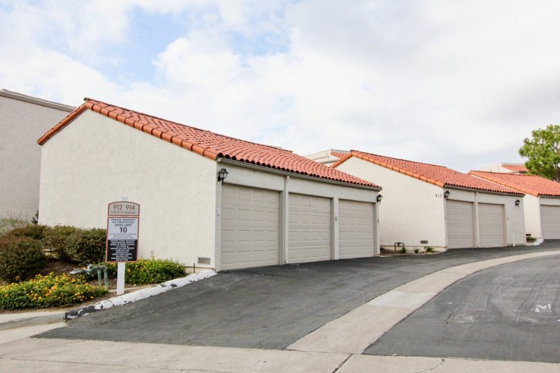 A three-car garage units in the Alta Mira II neighborhood.