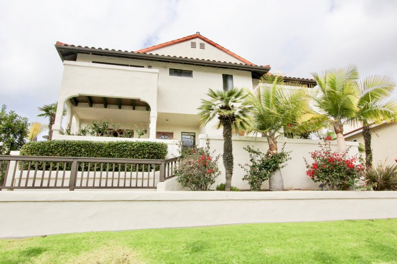 Marvellous villa with green lawn and trees in Carlsbad Beach Villas in Carlsbad