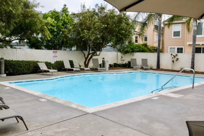 Nice Swimming pool in between villas in Cherry Tree Walk in Carlsbad