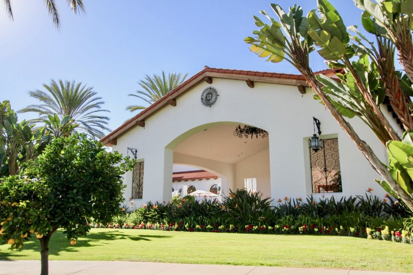 pitcure of garden of Cortez Building, located at Carlsbad, California