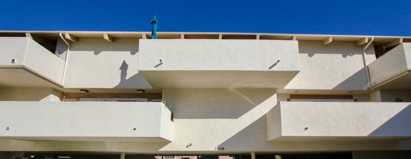 Building with balconies and stairs in Flave La Costa of Carlsbad