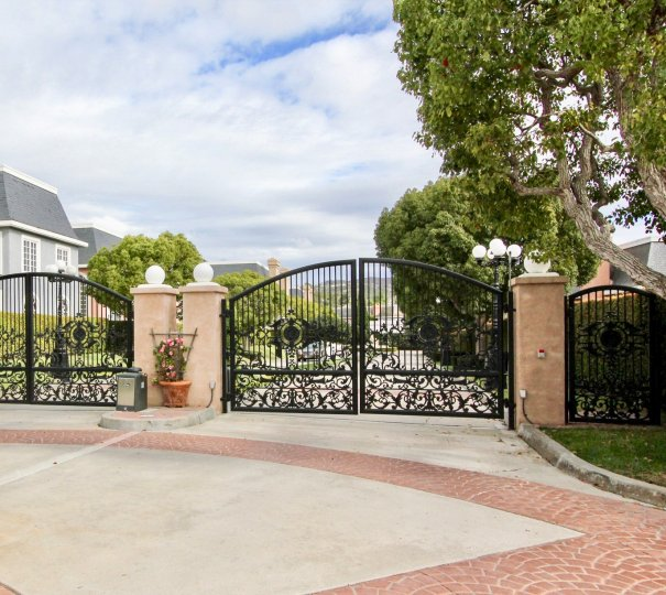 The gates to the Jockey Club Located in carlsbad california