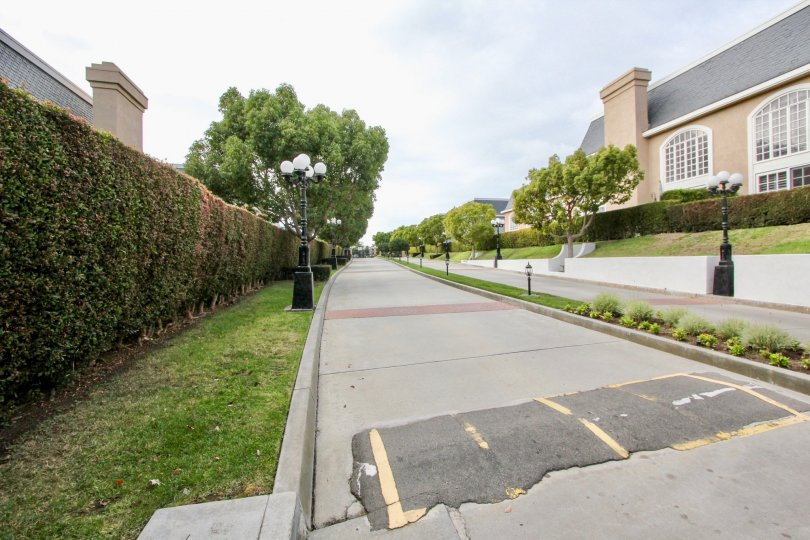 Posh Building with trees and garden in Jockey Club of Carlsbad