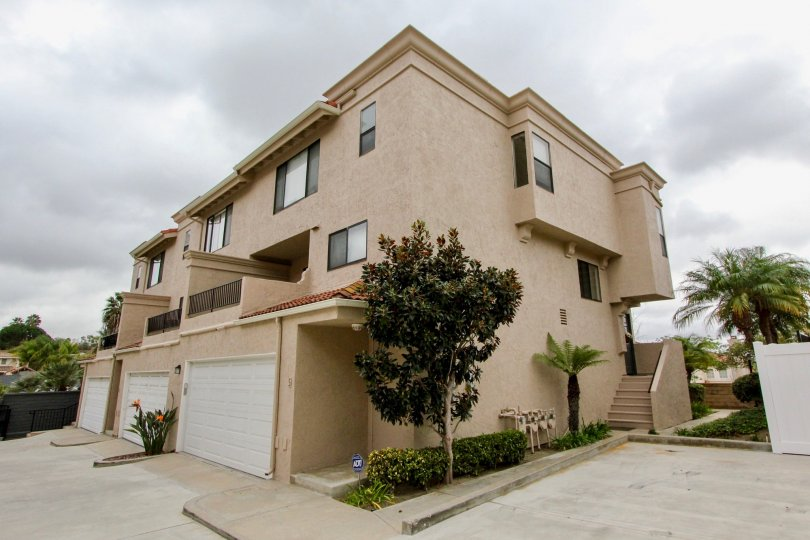 Two story apartment complex in La Costa Hills community in Carlsbad, CA