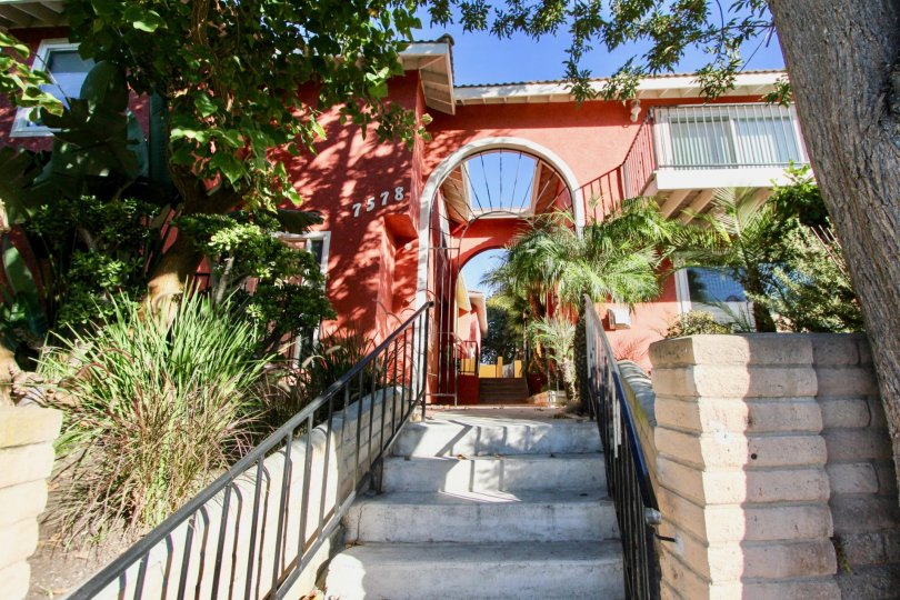 the la costa south red palace of the carlsbad in california