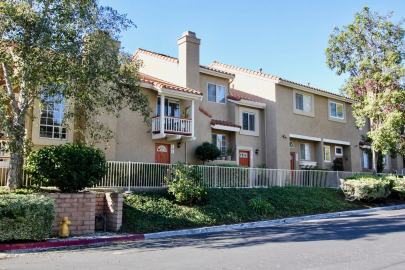 Beautiful villa with balcony and roadpoint with trees in Monarch Villas of Carlsbad