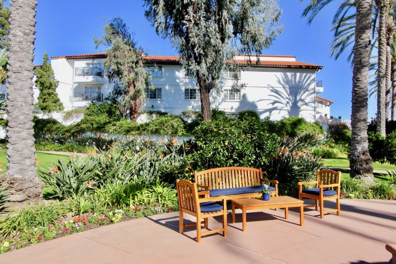 Beautiful sitout area with trees and gardens beside a villa in Omni La Costa Resort & Spa of Carlsbad