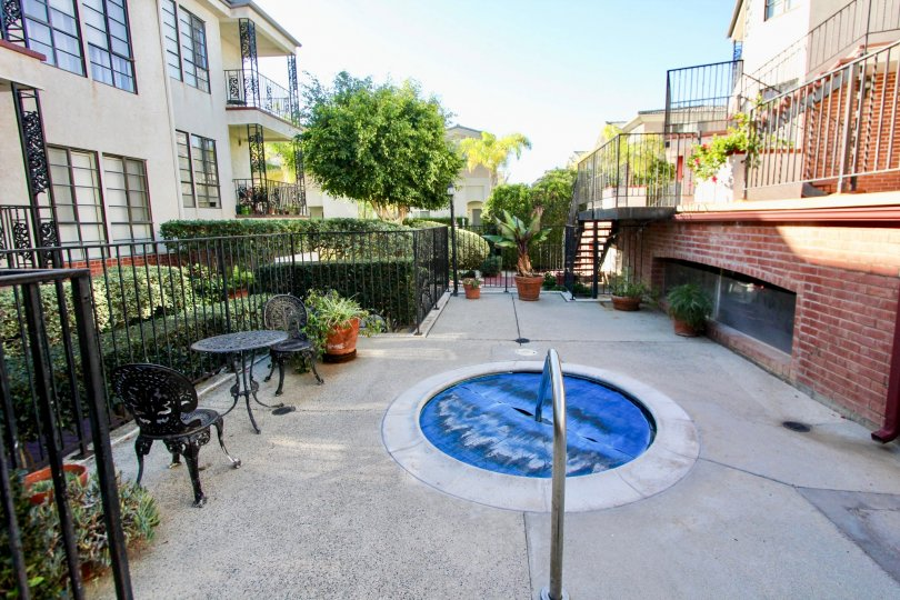Courtyard view of Orleans East in Carlsbad, California.