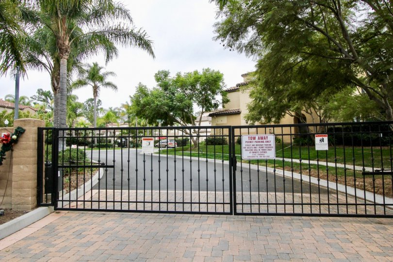 Gated Tree Lined Portico Community in Carlsbad, California
