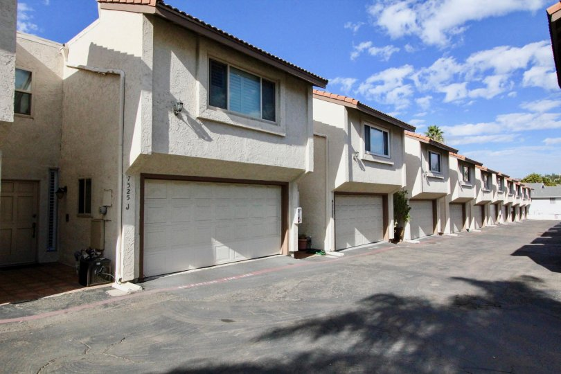 row house pics with parking place, Sand Trap Villas, located at Carlsbad, California