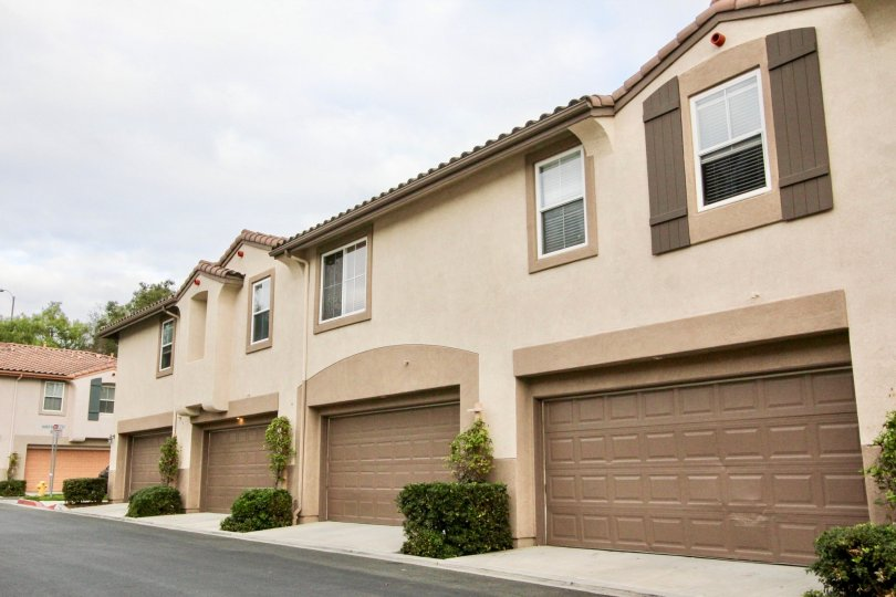 Large two story condominiums inside the community of Serrano in Carlsbad CA