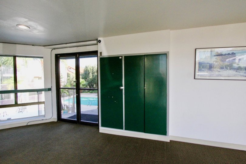 An inside transparent view of Tres Verde community center