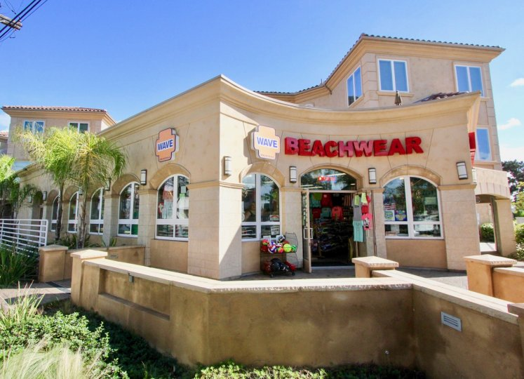 Wave Beachwear displays its wares at Villagio in Carlsbad, CA
