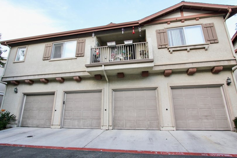 California Chula Vista Antigua Apartment Building with Garages