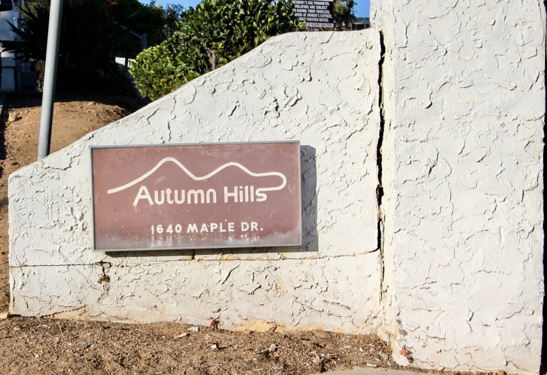 A sunny day at Autumn Hills located at Chula Vista, California