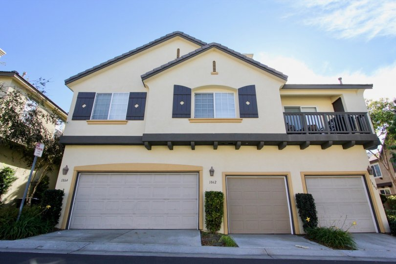 Two story town home building located at Bellerne Chateaux in Chula Vista CA