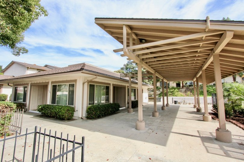 large covered courtyard with ample space for gatherings in Chula Vista