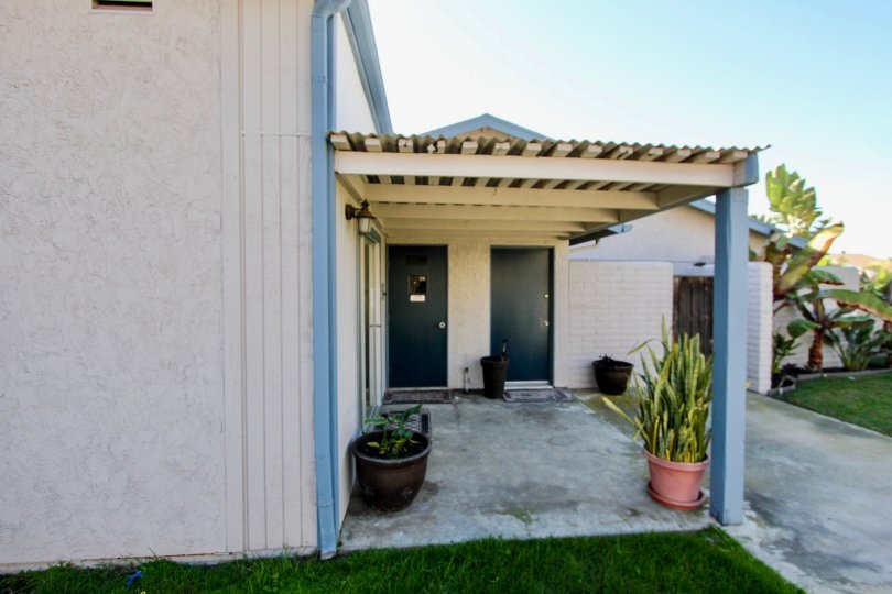 It is a clear day in Casa Vianney in Chula Vista, California.