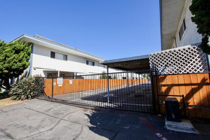 Gated entry at Chula Vista Townhomes in Chula Vista, CA