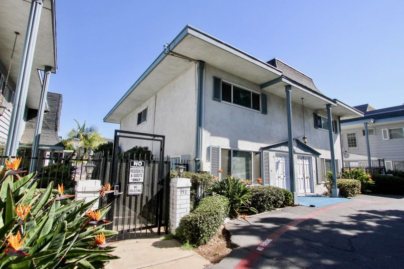 Beautiful white two story townhome with gated Community