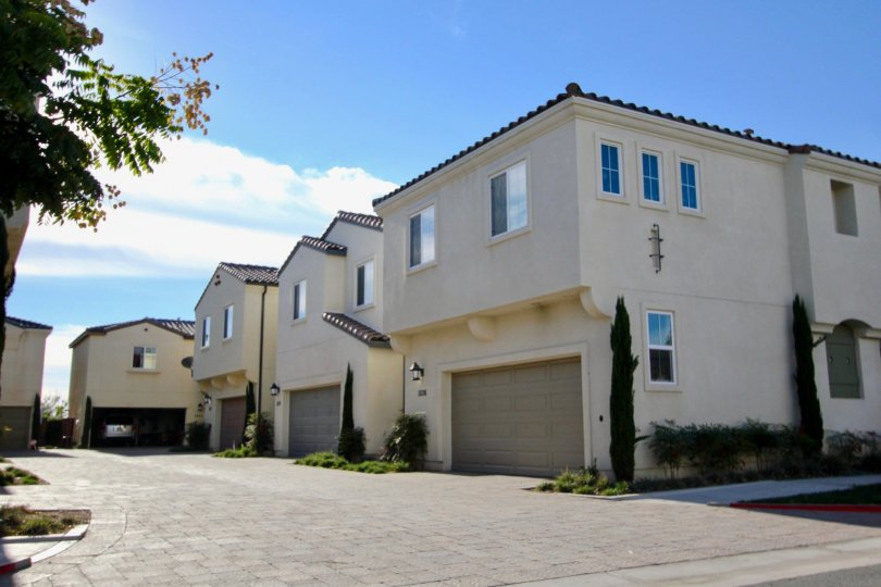 Five residential units with built in garages at Cordova located in Chula Vista CA