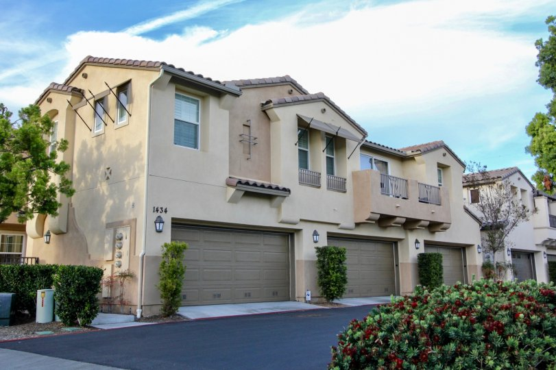 Plenty of parking at these townhomes in the Cortina Communityin sunny Chula Vista, CA