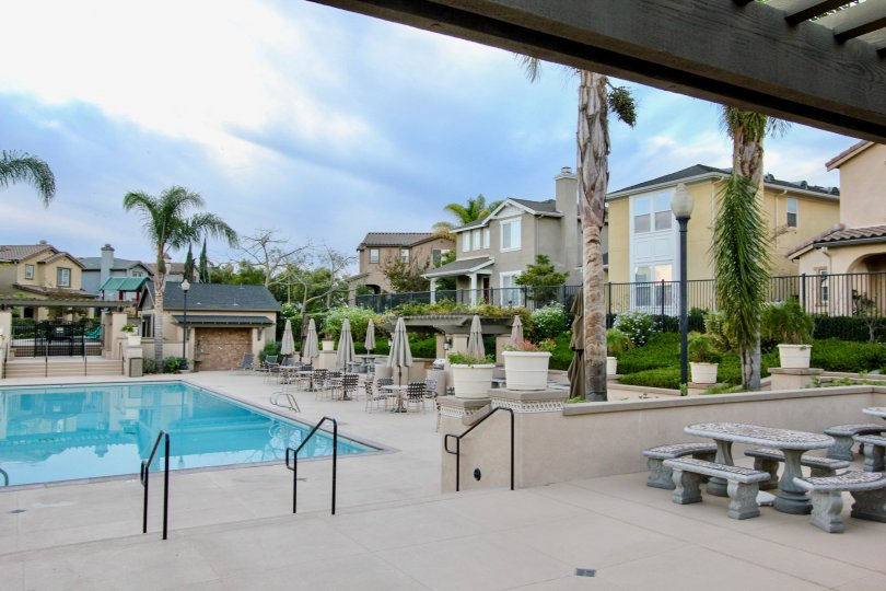 A rectangle shaped pool in Cottage Lane at Chula Vista CA