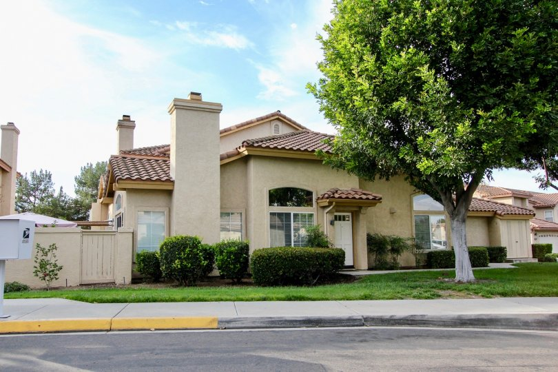A Beautiful House with Lawn in a sunny day in Fairway Villas of Chula Vista