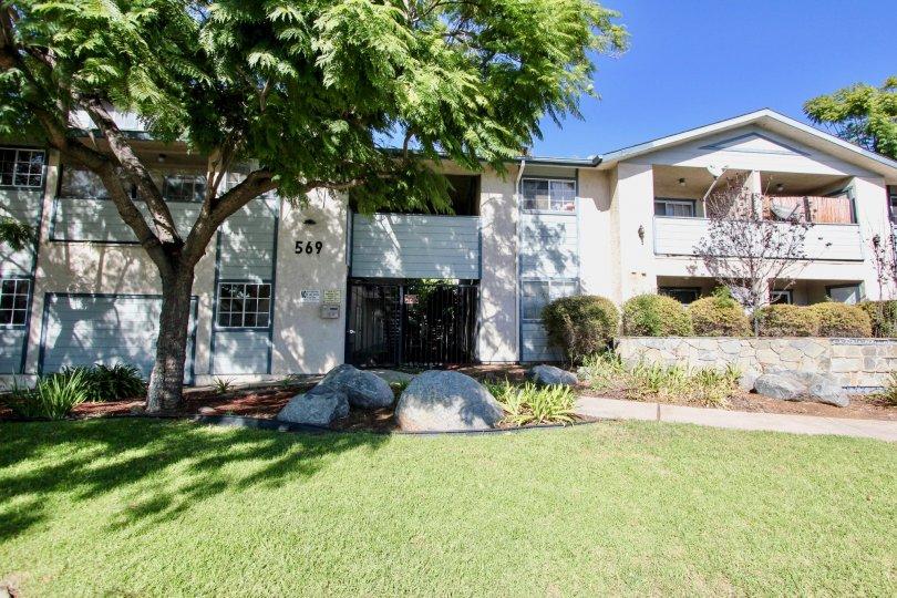 Beautifully Mowed Lawn in Gentry Villas in Chula Vista, California