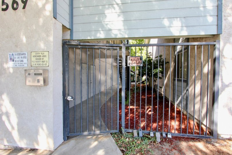 A Private property with covered Gate and also locked with instructions given in the Wall