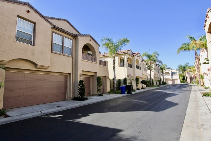 A gray driveway between condo units located in gold rush in chula vista ca