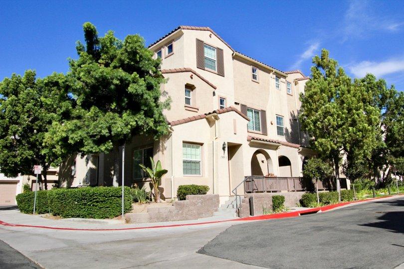 Corner property, three-story condo at Hearthstone Village in Chula Vista, CA